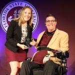 Florida State University, FSU Madison Shaff, and JR Harding accepting award
