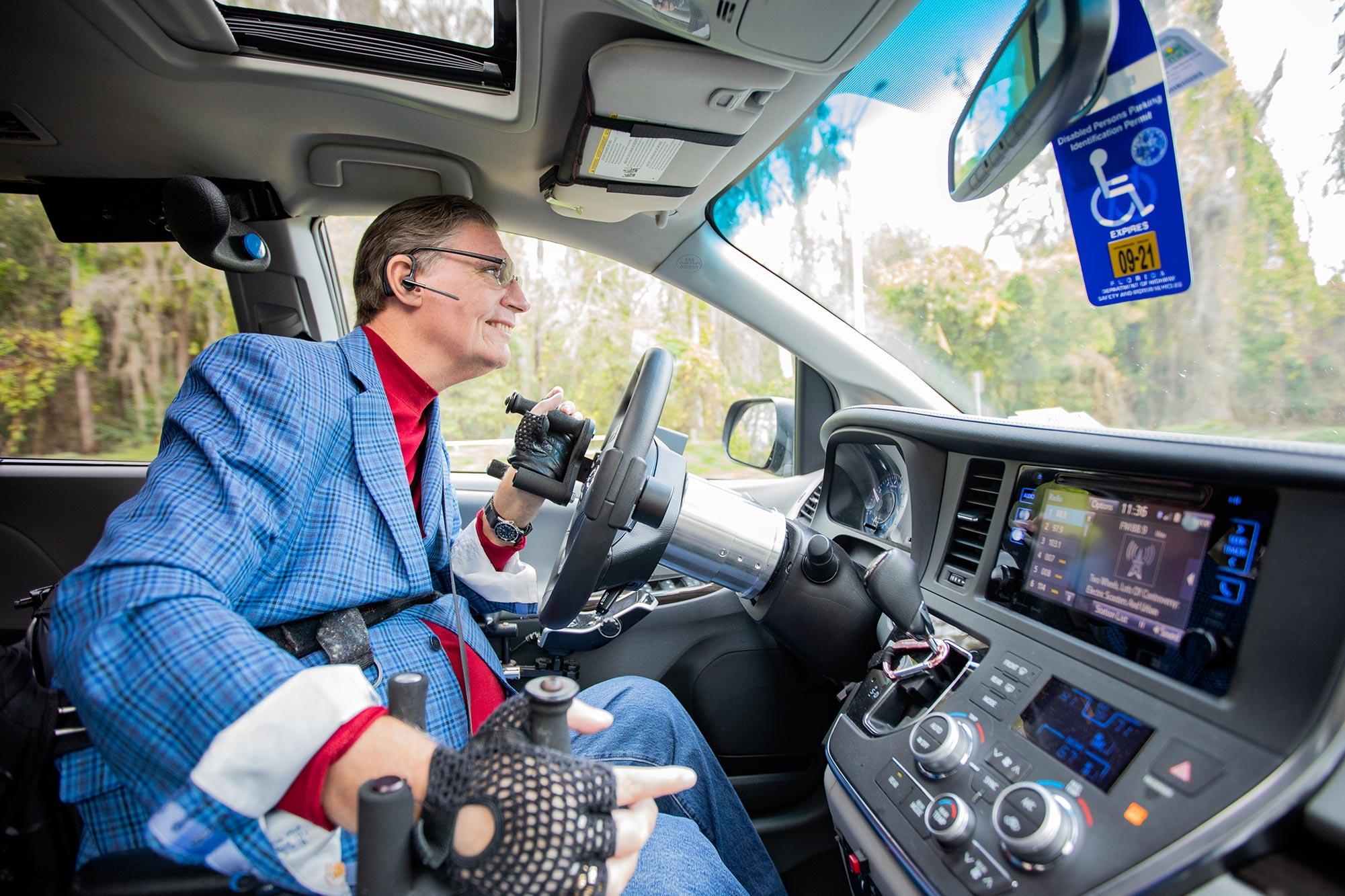 JR Harding driving accessible car