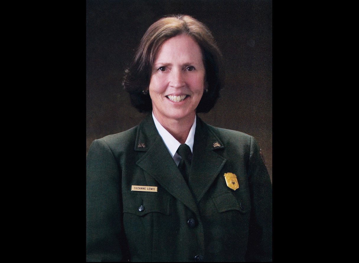 Official National Park Service of Suzanne in uniform